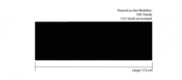 Futteral 17 cm schwarz flach